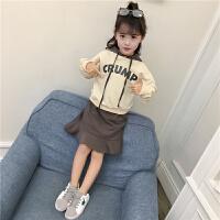 童装女童春装新款儿童裙子套装大童女孩春秋洋气时尚韩版潮衣