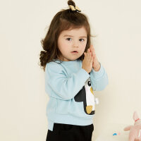 【全场2件2.5折,到手价:49.8】美特斯邦威旗下moomoo童装女童卫衣新款秋装卡通洋气宝宝小儿童上衣-CC