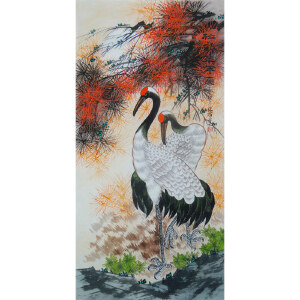现代画家   杨丽   松鹤延年图   /39