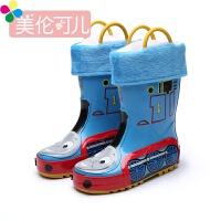 韩国儿童雨鞋男童水鞋滑四季可加棉宝宝雨靴幼儿园卡通橡胶套鞋