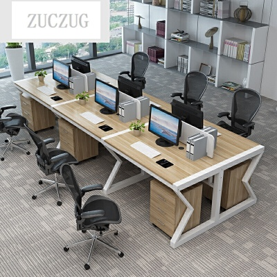 ZUCZUG职员办公桌单人位电脑桌椅组合柜子简约现代家具2/4/6工作位屏风 一般在付款后3-90天左右发货,具体发货时间请以与客服协商的时间为准