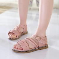 夏季新款韩版女童凉鞋公主鞋小花宝宝鞋儿童沙滩鞋凉鞋女童鞋