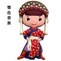 中国民族服饰冰箱贴创意中国特色冰箱贴装饰贴磁贴商务小礼品 大
