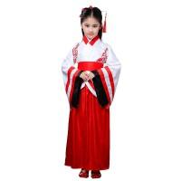 儿童古装汉服国学书童服装男女童古筝表演三字经弟子规朗诵演出服yly