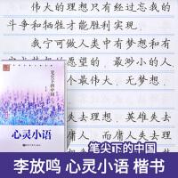 新版 笔尖下的中国 心灵小语 楷书字帖李放鸣书 笔墨先锋硬笔书法系列丛书学生钢笔字帖