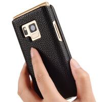 可触屏 三星W2016手机套w2015皮套W2018保护套W2017真皮G9298外壳G9198手机