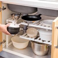 不锈钢水槽下架子厨房置物架多层伸缩收纳架多功能落地锅架储物架