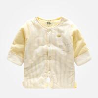 加厚夹棉婴儿童保暖连腿棉衣上衣护肚肚兜宝宝秋冬睡衣