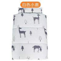 幼儿园婴儿睡袋儿童防踢被棉宝宝睡袋可拆卸中大童一体被 白色小鹿 三件一体