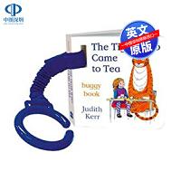 英文原版 The Tiger Who Came to Tea Buggy Book 低幼儿童英语启蒙纸板书认知读物 带挂