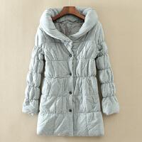 冬季柔软保暖显瘦纯色女士棉衣 中长款简约百搭加厚 C100
