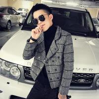 №【2019新款】冬天小个子穿的潮流XS码毛呢大衣韩版修身短款风衣男矮个子160小码外套