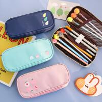 韩版笔盒女学生可爱创意文具大容量收纳简约文具盒儿童铅笔盒笔袋