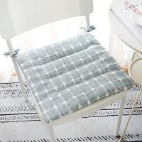 简约现代日式薄款坐垫餐桌椅垫夏季办公室学生棉麻透气教室座垫子