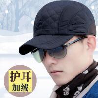 №【2019新款】冬天带的韩版男帽子秋冬天棒球帽男加厚鸭舌帽加绒护耳棉帽休闲帽