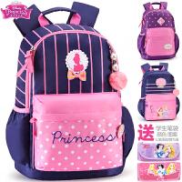 迪士尼书包小学生女童1-3-6年级公主6-12岁女孩儿童休闲双肩背包