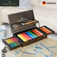 辉柏嘉Faber-Castell木盒绘画套装 油性彩铅笔色粉炭笔110086