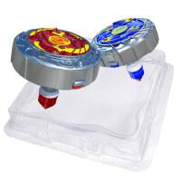魔幻陀螺2代新款梦幻拉线发光焰天火龙王战斗盘套装男孩儿童玩具4