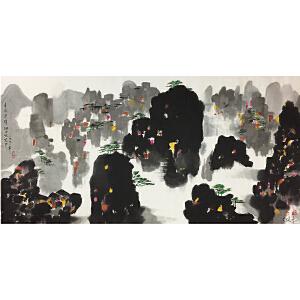 吴冠中《张家界》著名画家