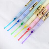 白雪荧光笔学生用10色彩色记号笔标记笔重点划线多色水彩笔