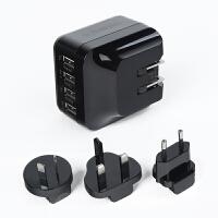 旅行USB充电便携插头电源转换器德标欧标英美国插座通用出国