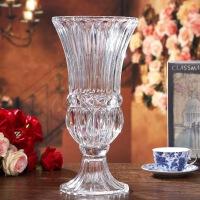 水晶花瓶创意桌面装饰品插花透明摆件玫瑰花花瓶大号