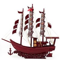 一帆风顺帆船摆件 红木工艺品100cm大号木船 实木质仿真帆船模型