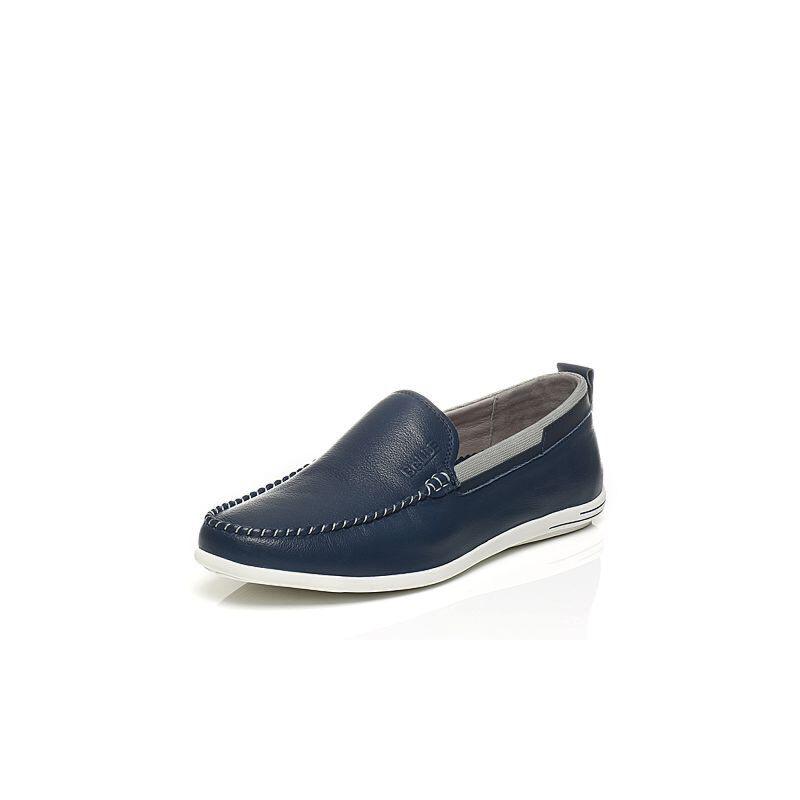 Belle/百丽夏季专柜同款牛皮乐福鞋男休闲鞋4VF01BM7