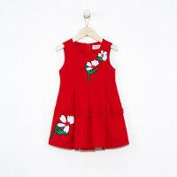 【1件3折价:89.7】moomoo童装女童无袖连衣裙新款春装印花洋气中大儿童裙子