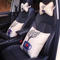 汽车抱枕四件套个性靠垫小车头枕一对可爱车内车载车用车枕头