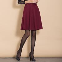 特尚莱菲 秋冬新款显瘦半身裙子羊毛呢短裙加厚A字中裙高腰半裙 BHF6661