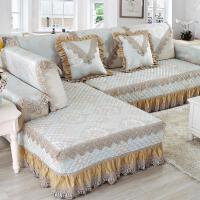 欧式四季通用沙发垫亚麻布艺防滑客厅组合清新沙发套全包罩巾定做