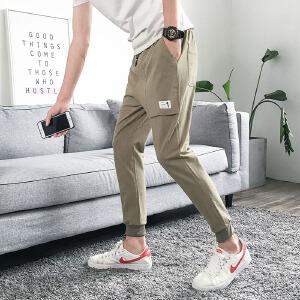 棉麻男士休闲裤男式长裤子九分裤 303ASK113
