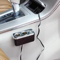 汽车点烟器一拖二带USB 延长线点烟器转换插座车载手机充电SN9031 SW-1929 一拖二带USB