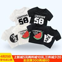 女宝宝夏装短袖T恤2婴儿童0女童1岁时尚潮衣服夏季