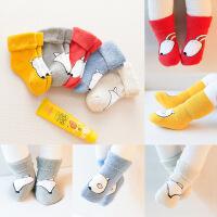 婴儿宝宝袜子女春秋冬季加厚纯棉新生儿长筒男0-1岁3-12个月6保暖