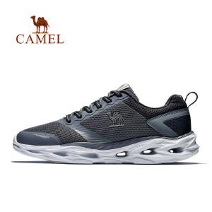 骆驼牌运动鞋 情侣2018新款轻便透气休闲跑鞋 耐磨缓震网面跑步鞋