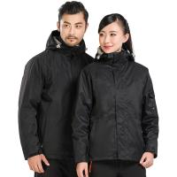 冬季户外亲子款两件套冲锋衣男女儿童款加绒加厚保暖透气登山服潮 X