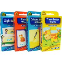 【词汇套装4盒】School Zone Flash Cards Words Beginning Sight/pictu