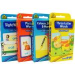 【词汇套装4盒】School Zone Flash Cards Words Beginning Sight/pictu