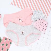 4条装孕妇内裤纯棉怀孕期透气低腰月子内裤孕产期产后裤头SN0447