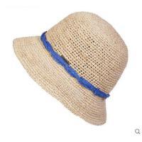 百搭帽子防晒沙滩帽潮流编织草帽女拉菲草帽青年遮阳帽子
