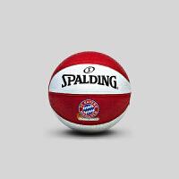 SPALDING斯伯丁官方旗舰店 橡胶材质儿童迷你篮球 拜仁慕尼黑队徽1号球65-853Y