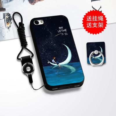 苹果4s手机壳女 iPhone4s手机套硅胶全包防摔保护套卡通潮男挂绳