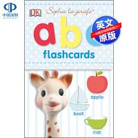 英文原版 Sophie la Girafe ABC Flashcards 低幼儿童英语启蒙闪卡认知纸板书 亲子互动