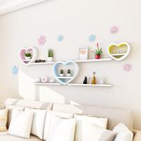 墙上置物架免打孔隔板客厅创意格子壁挂卧室客厅背景墙装饰架搁板3ya