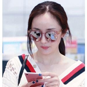 明星同款时尚太阳眼镜果冻色复古墨镜 潮流百搭太阳镜韩版眼镜