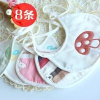 男女宝宝口水巾系带纯棉新生婴幼儿吃饭围嘴兜纱布小孩吸防水吐奶