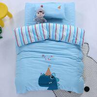 ???幼儿园被子三件套纯棉全棉儿童被褥被套宝宝婴儿床午睡六件套
