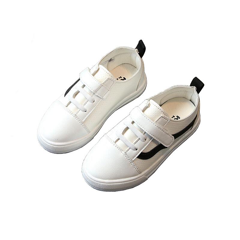 2018冬秋季新款童鞋男童皮鞋女童单鞋软底宝宝小白鞋儿童板鞋